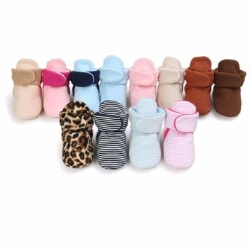 0-18M Kids Baby Boy Girl Warm Boots Infant Toddler Soft Sole Crib Shoes Booties