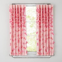 "The Land of Nod | 63"" Pink Bow Tied Curtain Panel in Curtains & Hardwares"