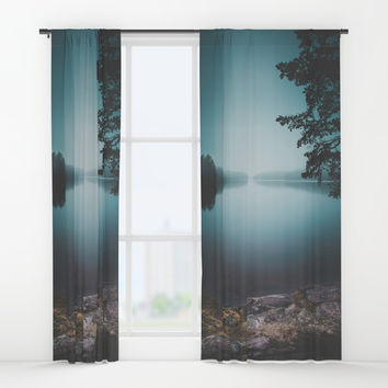 Lake insomnia Window Curtains by HappyMelvin