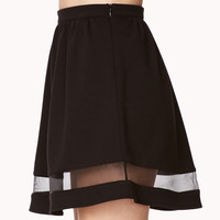 Cool Girl Mesh Skater Skirt