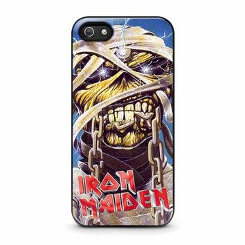 iron maiden iphone 5 5s se case cover  number 1