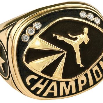 Champion Martial Arts Ring Championship Martial Arts Ring Trophy Ring (10 Sizes)