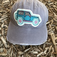 Leopard Jeep Hat -GRAY