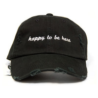 Happy To Be Here Distressed Hat from Mod Sun Merch