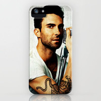 Maroon 5 Adam Levine Microphone iPhone Case by Toni Miller | Society6