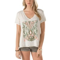 Vans Here Kitty Slouchy V-Neck Tee (creme)