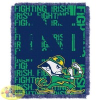 "Notre Dame Fighting Irish 48""x60"" Triple Woven Jacquard Throw (Double Play Series)"