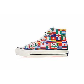 2018 FIFA World Cup Converse Chuck Taylor All Star 1970S National Flag Mid Sneakers - Sale