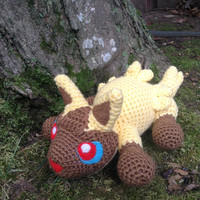 Pokemon Inspired: Poochyena Amigurumi (Crochet Plushie/Plush Toy) in shiny or normal colors!  - MADE TO ORDER