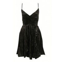 VELVET SKATER DRESS from Select Fashion