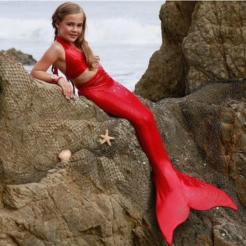 Child Swimmable Mermaid Tail with Monofin by The2Tails