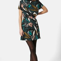 Women's Topshop Floral Overlay Dress
