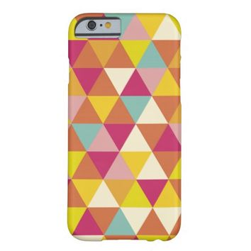 Retro Colorful Abstract Geometric Shapes Pattern Barely There iPhone 6 Case