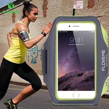 FLOVEME Waterproof Sport Arm Band Case For iPhone 6 6s 7 8 Plus For Samsung S8 S7 S6 Edge Plus 5.5 Inch Universal Phone Bags Gym