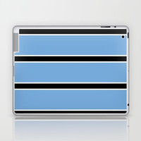 Abstraction from the flag of bostwana-kalahari,gaborone,batswana,motswana,tswana,kalanga Laptop & iPad Skin by oldking