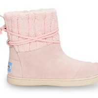 Pink Knit Youth Nepal Boots