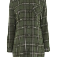 MATERNITY Khaki Check Shirt | Topshop