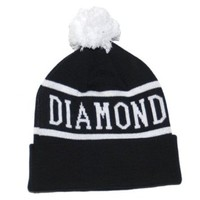 Diamond Supply Beanie (Black/White)