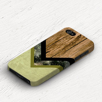 Chevron iPhone 5 case wood iPhone 4s case Chevron iPhone 5c case geometric iPhone 4 case vintage forest green iPhone 5s case black c245
