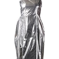 Simone Rocha foil dress