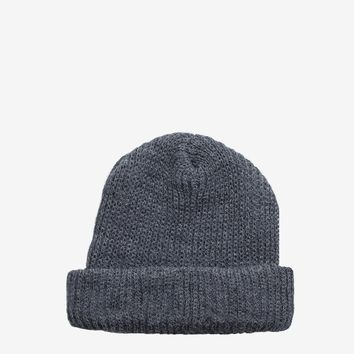 Brushed Basic Beanie in Charcoal