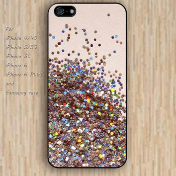 iPhone 6 case colorful Glitter lighting iphone case,ipod case,samsung galaxy case available plastic rubber case waterproof B076