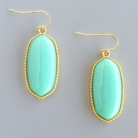 Mint Macaron Earrings