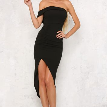 On Fire Midi Dress Black