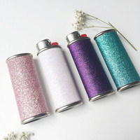 Sparkly Glitter  Metal Lighter Case