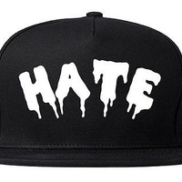 Kings Of NY Hate Goth Blood Font Snapback Hat Cap