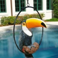 Statues | Touco the Tropical Toucan Sculpture on Ring Perch