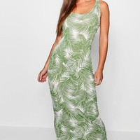 Petite Palm Print Maxi Dress | Boohoo