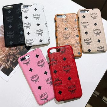 "Hot Sale ""MCM"" Fashion Classic Hard Mobile Phone Cover Case For iphone 6 6s 6plus 6s-plus 7 7plus 8 8plus X XsMax XR"