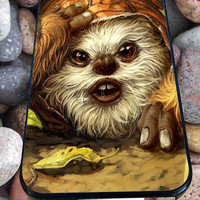 Ewok Forest Scout Star Wars for iPhone 4/4s/5/5S/5C/6, Samsung S3/S4/S5 Unique Case *95*