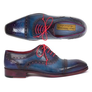 Men's Captoe Oxfords Blue & Parliament