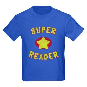 Super Reader Kids Dark T-Shirt