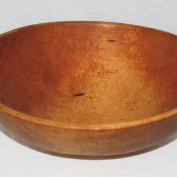 Large Antique Wood Dough Bowl Solid Maple