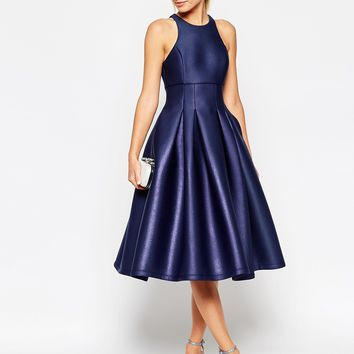 ASOS SALON Shimmer Scuba Ultra Full Prom Dress