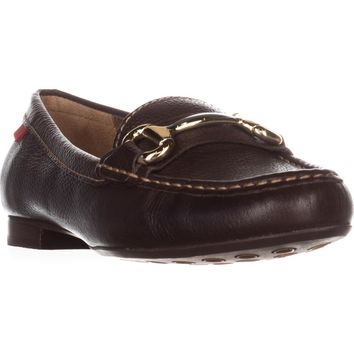 Marc Joseph New York Grand St. Dress Loafers, Brown Grainy, 7 US / 37.5 EU