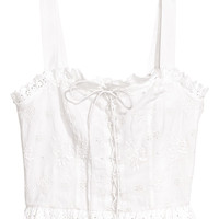 H&M Top with Eyelet Embroidery $24.99