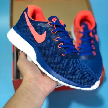 KUYOU N591 Nike Roshe 3.0 Flyknit MD Casual Running Shoes Blue Orange