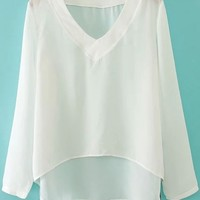 High-low Chiffon Blouse - OASAP.com