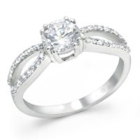 Bling Jewelry Sterling Silver CZ Infinity Engagement Ring Round
