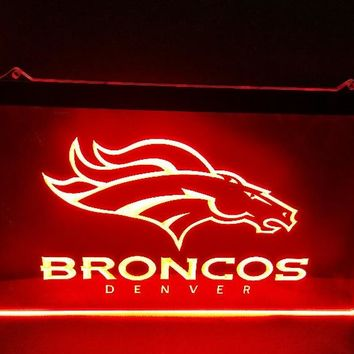 b-196 denver Broncos beer bar pub club 3d signs LED Neon Light Sign man cave