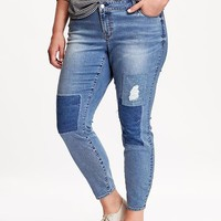 Old Navy Mid Rise Distressed Rockstar Plus Size Jeans