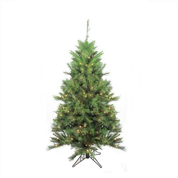 5' Pre-Lit Canyon Pine Artificial Christmas Tree - Clear Lights
