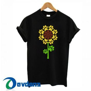 Sunflower Dog Paw T Shirt Women And Men Size S To 3XL