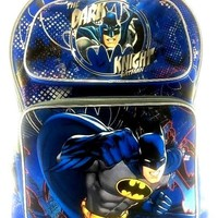 "DC Comics 3D Batman 16"" Canvas Black & Blue School Backpack"