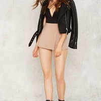 Slit Pretty Stretch Skort