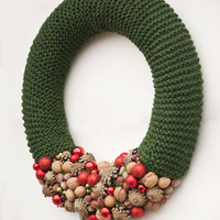 Christmas wreath, Nuts berry Christmas wreath, Holiday wreath, Rustic Christmas decor, Seasonal wreath